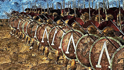 Painting - Spartan Army At War - 21 by Andrea Mazzocchetti