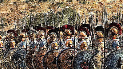 Painting - Spartan Army At War - 22 by Andrea Mazzocchetti