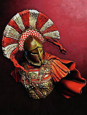 Painting - Spartan Hoplite - 27 by Andrea Mazzocchetti