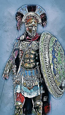 Painting - Spartan Hoplite - 28 by Andrea Mazzocchetti
