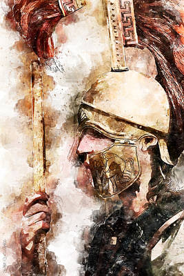 Painting - Spartan Hoplite - 29 by Andrea Mazzocchetti