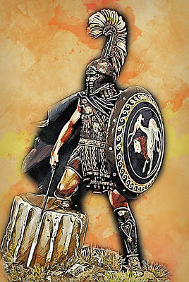 Painting - Spartan Hoplite - 36 by Andrea Mazzocchetti