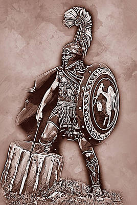 Painting - Spartan Hoplite - 37 by Andrea Mazzocchetti