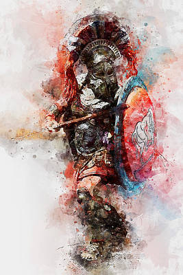 Painting - Spartan Hoplite - 38 by Andrea Mazzocchetti