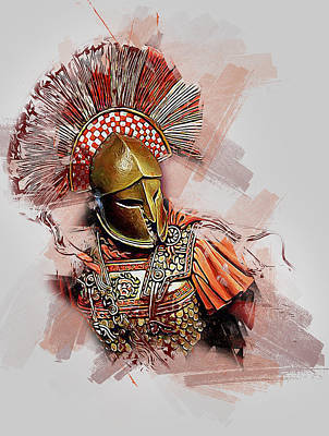 Painting - Spartan Hoplite - 39 by Andrea Mazzocchetti