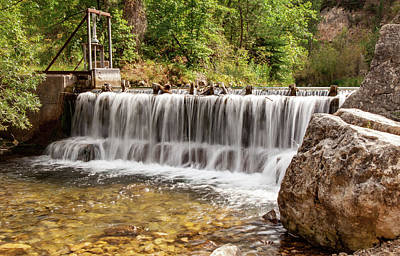 Photograph - Spearfish Canyon Spillway by Sarah Jane Parker