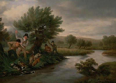 Painting - Spearing The Otter by Philip Reinagle