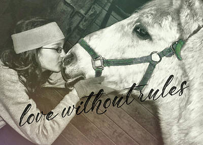 Photograph - Special Pony Quote by JAMART Photography