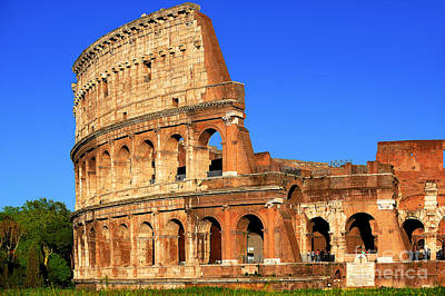 Cargo Boats Rights Managed Images - Spectacular Colosseum Colors Royalty-Free Image by Stefano Senise