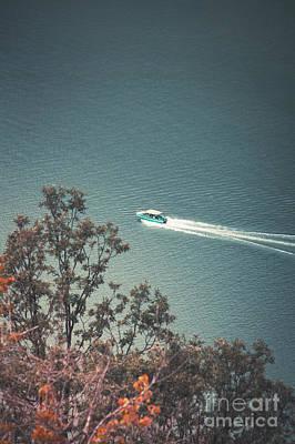 Photograph - Speed Boat On The Danube by Gazali