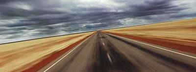 Photograph - Speeding Concept Motion Blur by Fpm