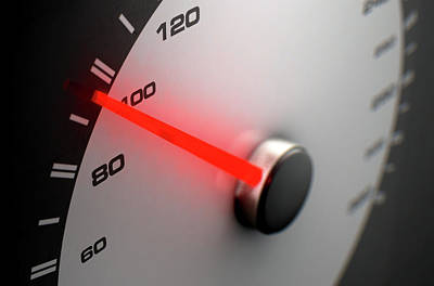 Digital Art Rights Managed Images - Speedometer Average Royalty-Free Image by Allan Swart