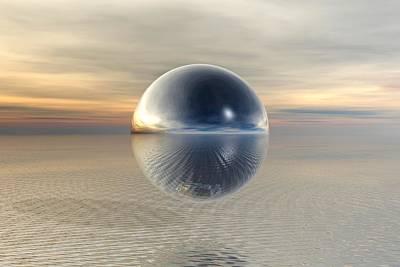 Ufo Wall Art - Painting - Sphere by ArtMarketJapan