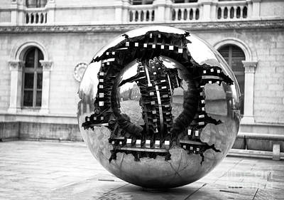 Photograph - Sphere Within Sphere Trinity College Dublin by John Rizzuto