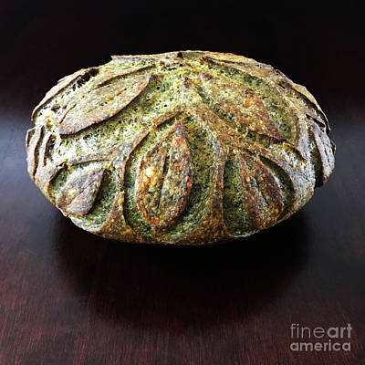 Art Print featuring the photograph Spicy Spinach Sourdough 2 by Amy E Fraser