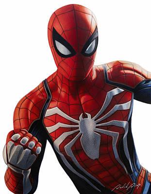 Drawing - Spider-man by David Dias