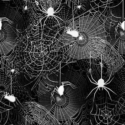 Digital Art - Spider Webs Pattern by Cindy Boyd