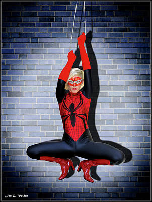 Photograph - Spider Woman Hanging Out by Jon Volden