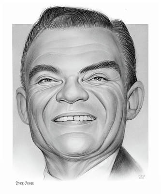 Musicians Drawings Rights Managed Images - Spike Jones Royalty-Free Image by Greg Joens