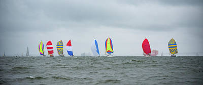 Photograph - Spinnaker Start by Mark Duehmig
