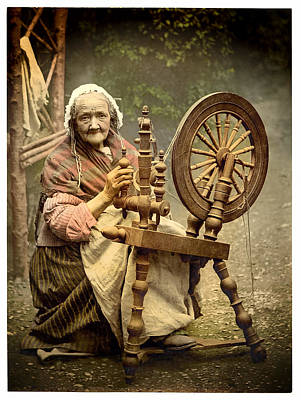 Photograph - Spinner And Spinning Wheel Remastered by Carlos Diaz