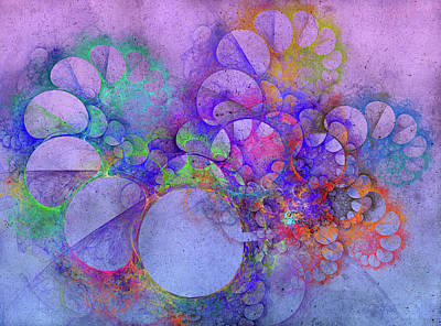 Digital Art Rights Managed Images - Spiral Coast Fractal Royalty-Free Image by Betsy Knapp