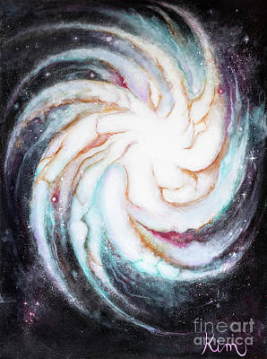 Painting - Spiral Galaxy by Kim Morris