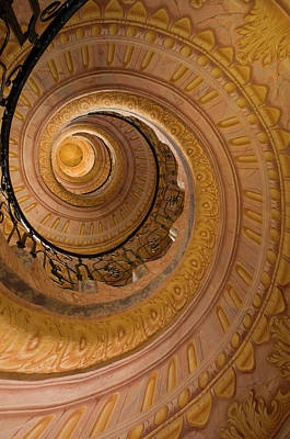 Photograph - Spiral Staircase At Baroque Monastery by Richard Nebesky