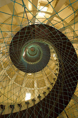 Abstract Photograph - Spiral Staircase In Lighthouse At Ilot by Tobias Bernhard