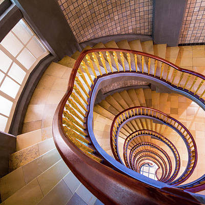 Photograph - Spiral Staircase by Mf-guddyx