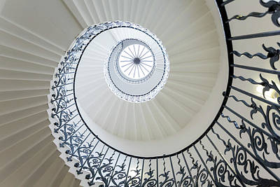House Photograph - Spiral Staircase, The Queens House by Peter Adams
