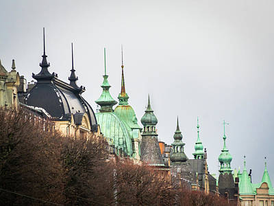 Photograph - Spires Of Stockholm by Robin Zygelman