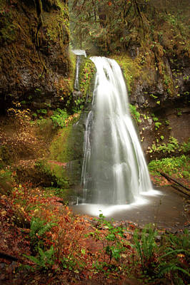 Photograph - Spirit Falls Vertical Version by Lara Ellis