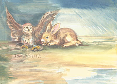 Painting - Spirit Friend Through The Storm by Sheri Jo Posselt
