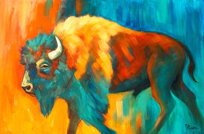 Wall Art - Painting - Spirit Of The Plains by Theresa Paden