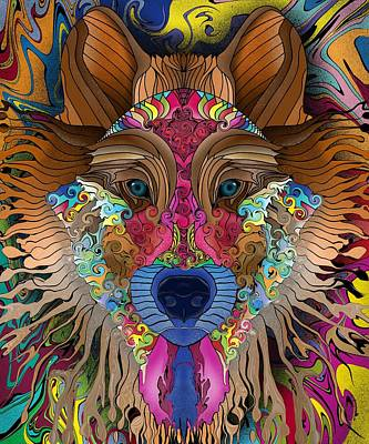 Digital Art - Spirit Wolf by Mark Taylor