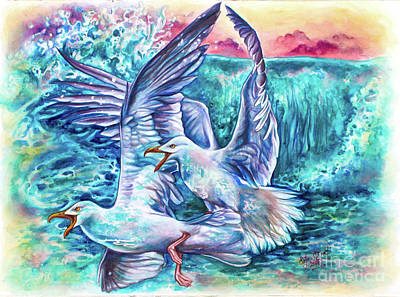 Painting - Spirited Sea by Safa Qureshi