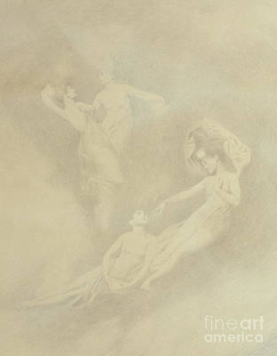 Drawing - Spirits In The Mist  by Charles Prosper Sainton