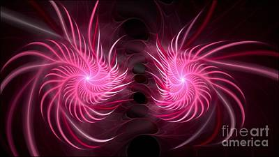 Digital Art - Spirolia Pink by Doug Morgan