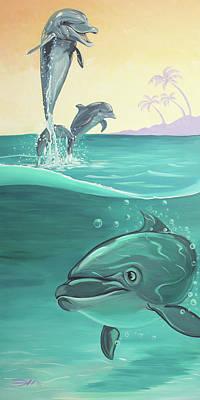 Painting - Splash Brothers by Joshua Hendry