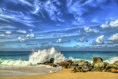 Classic Golf - Oahu HI The Crashing Surf The North Shore Seascape Art by Reid Callaway