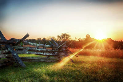 Photograph - Split-rail Sunset by Travis Rogers