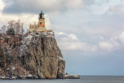 Photograph - Split Rock Lighthouse Lightly Flocked by Susan Rissi Tregoning