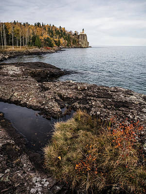 Photograph - Split Rock Lighthouse Rocky Shore by Whitney Leigh Carlson
