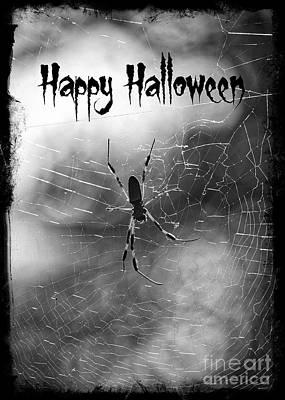 Photograph - Spooky Spider Halloween by Carol Groenen