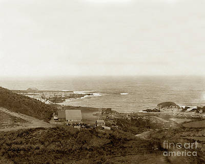 Photograph - Spooner's Cove With Chute  Landing, Morro Bay, San Luis Obispo C by California Views Archives Mr Pat Hathaway Archives