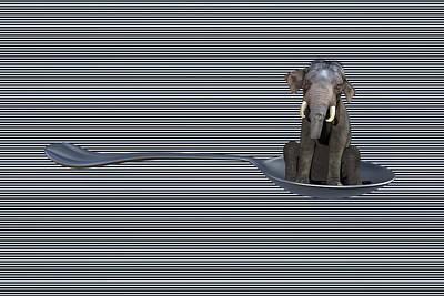 Surrealism Digital Art - Spoonful by Betsy Knapp