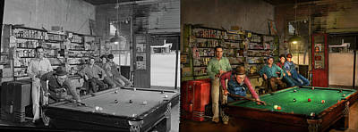 Photograph - Sport - Pool - The Pool Hustle 1941 - Side By Side by Mike Savad
