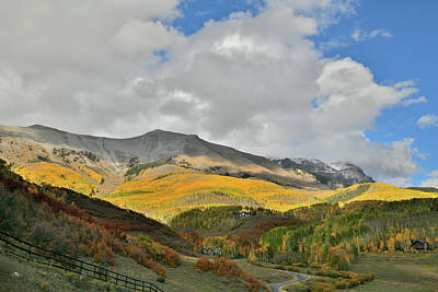 Photograph - Spotlight On Fall Colors Above Telluride by Ray Mathis