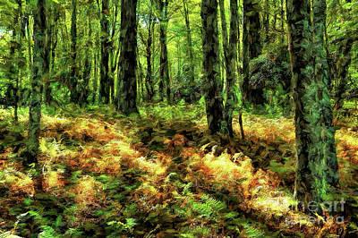 Painting - Spotted Autumn Sunlight Ap by Dan Carmichael